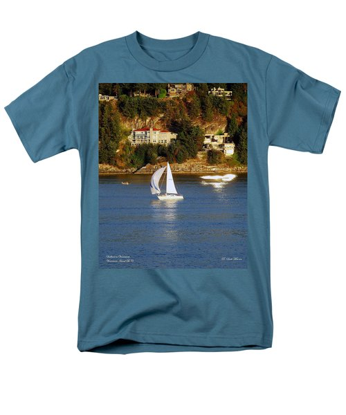 Sailboat In Vancouver Men's T-Shirt  (Regular Fit) by Robert Meanor