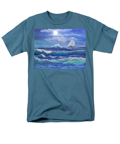 Sailing The Caribbean Men's T-Shirt  (Regular Fit) by Holly Martinson