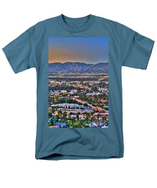 San Fernando Valley Vertical Men's T-Shirt  (Regular Fit) by David Zanzinger
