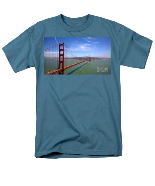 San Francisco Golden Gate Bridge Men's T-Shirt  (Regular Fit) by Debra Thompson