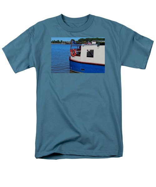 Men's T-Shirt  (Regular Fit) featuring the photograph Sandpiper On The Maumee by Michiale Schneider