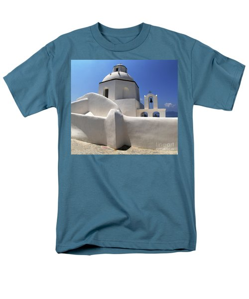 Santorini Greece Architectual Line 4 Men's T-Shirt  (Regular Fit) by Bob Christopher