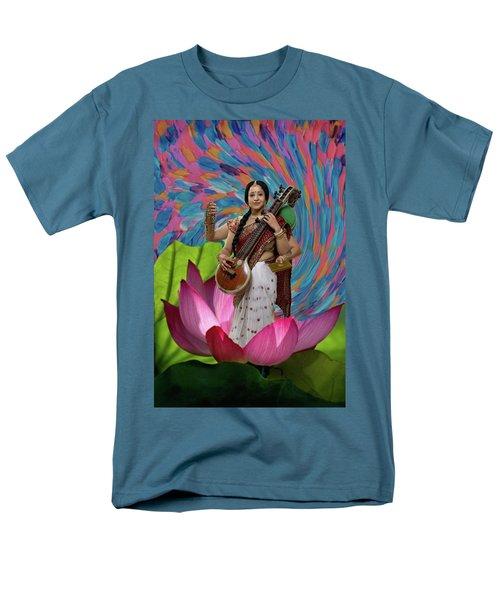 Saraswati Men's T-Shirt  (Regular Fit) by David Clanton