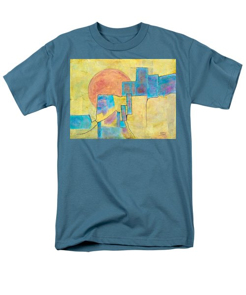 Men's T-Shirt  (Regular Fit) featuring the painting Sausalito by Nancy Jolley