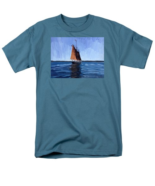 Schooner Roseway In Gloucester Harbor Men's T-Shirt  (Regular Fit) by Melissa Abbott