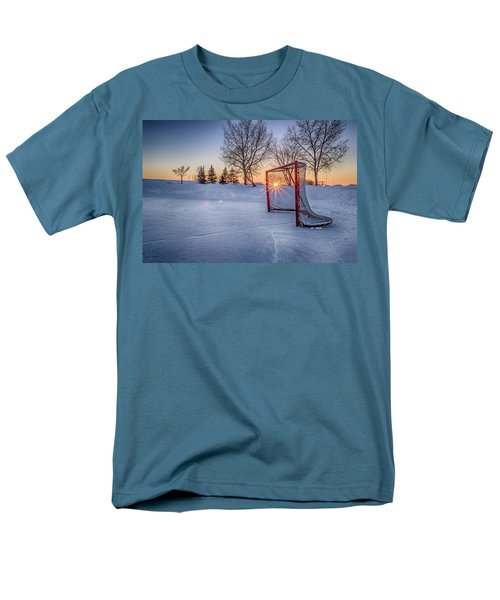 Men's T-Shirt  (Regular Fit) featuring the photograph Scoring The Sunset 3 by Darcy Michaelchuk