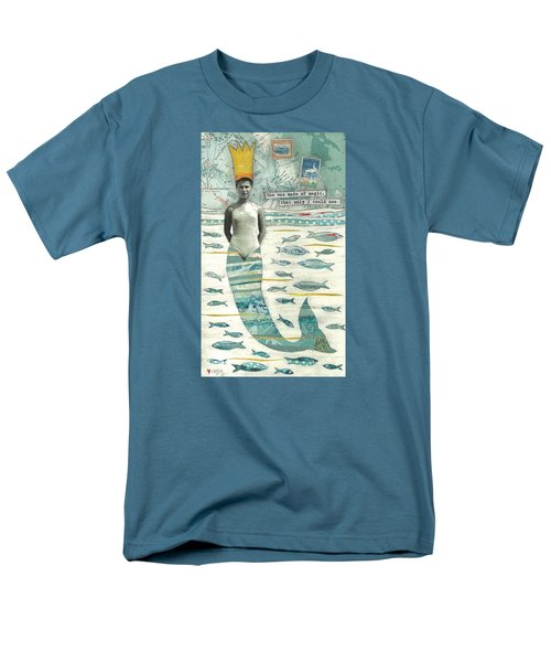 Men's T-Shirt  (Regular Fit) featuring the painting Sea Queen by Casey Rasmussen White