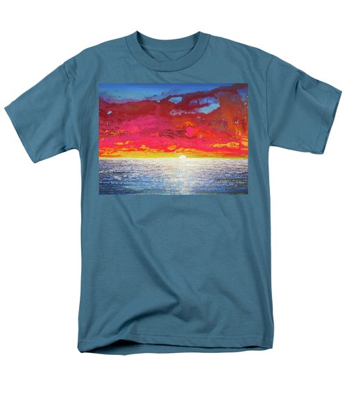 Men's T-Shirt  (Regular Fit) featuring the painting Sea Splendor by Mary Ellen Frazee