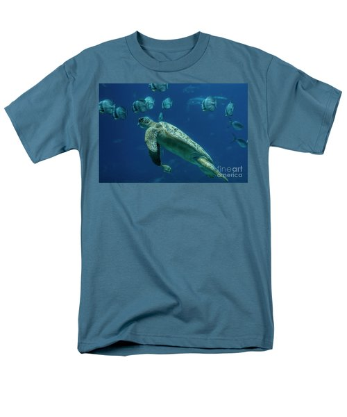 Sea Turtle Men's T-Shirt  (Regular Fit) by Barbara Bowen