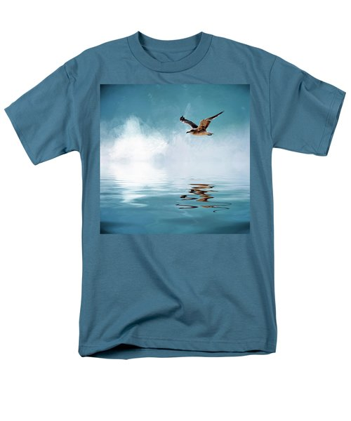 Seagull In Flight Men's T-Shirt  (Regular Fit) by Cyndy Doty