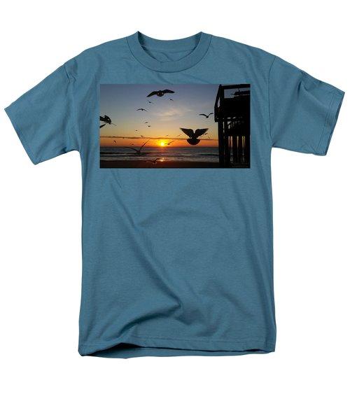 Seagulls At Sunrise Men's T-Shirt  (Regular Fit)