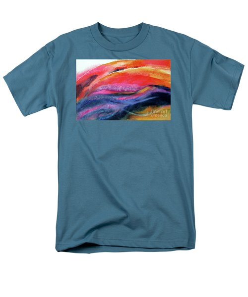 Men's T-Shirt  (Regular Fit) featuring the painting Seams Of Color by Kathy Braud