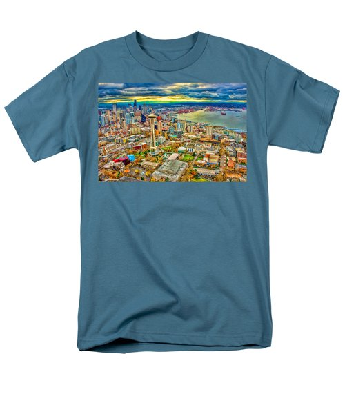 Men's T-Shirt  (Regular Fit) featuring the photograph Seattle by Jerry Cahill