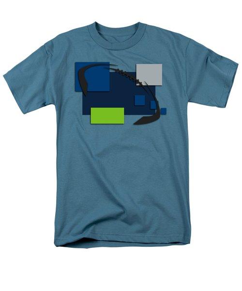 Seattle Seahawks Abstract Shirt Men's T-Shirt  (Regular Fit) by Joe Hamilton