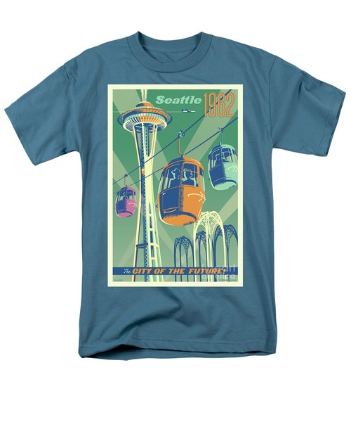 Seattle Space Needle 1962 - Alternate Men's T-Shirt  (Regular Fit) by Jim Zahniser