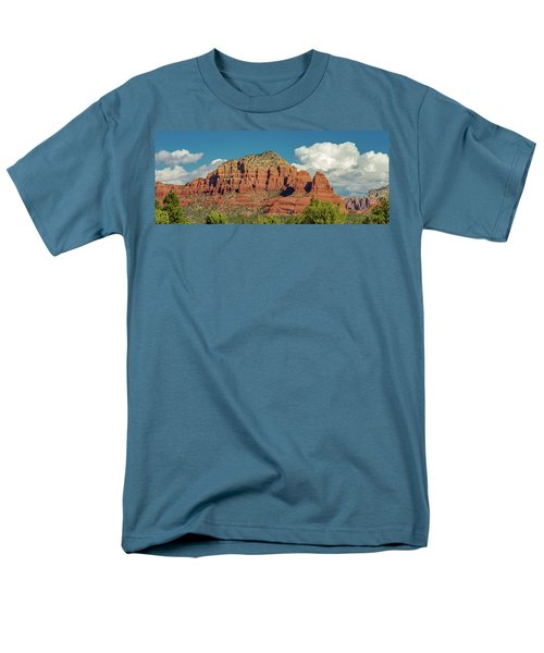 Men's T-Shirt  (Regular Fit) featuring the photograph Sedona, Rocks And Clouds by Bill Gallagher