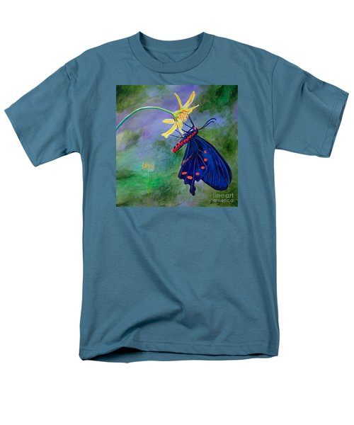 Men's T-Shirt  (Regular Fit) featuring the painting Semperi Swallowtail Butterfly by AnnaJo Vahle