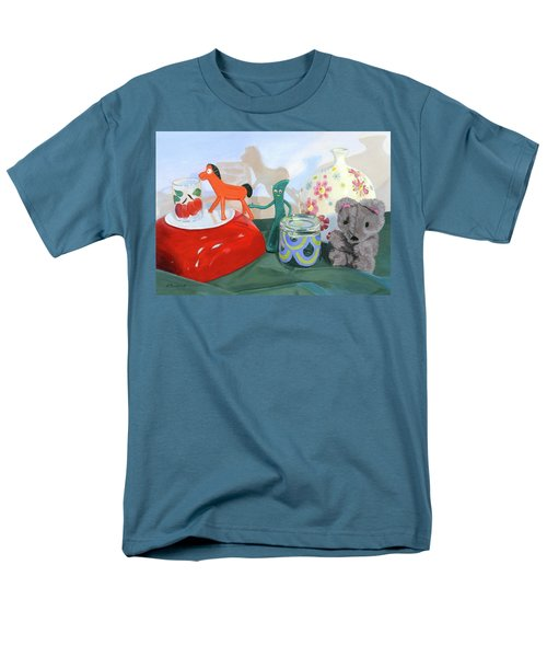 Men's T-Shirt  (Regular Fit) featuring the painting Shadows Of The Past by Lynne Reichhart