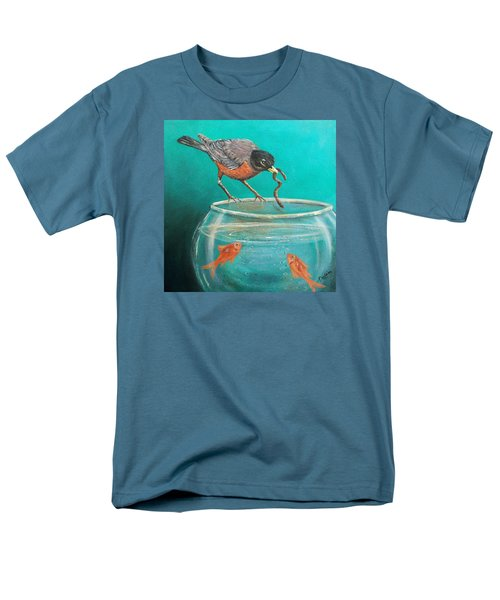Men's T-Shirt  (Regular Fit) featuring the painting Sharing by Susan DeLain