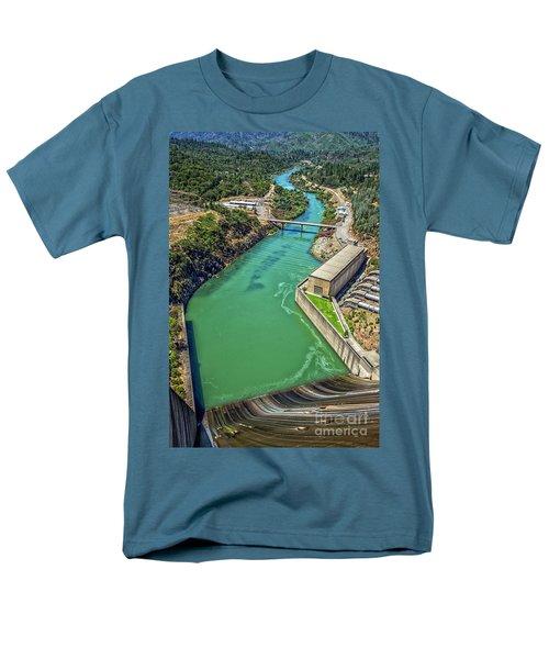 Shasta Lake Dam Men's T-Shirt  (Regular Fit) by Billie-Jo Miller
