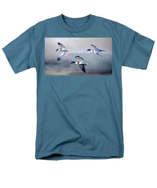 Men's T-Shirt  (Regular Fit) featuring the photograph Shelduck Morning. by Brian Tarr