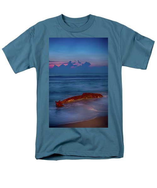 Men's T-Shirt  (Regular Fit) featuring the photograph Shipwreck On The Outer Banks The End by Dan Carmichael