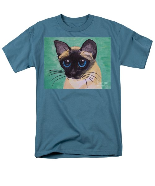 Men's T-Shirt  (Regular Fit) featuring the painting Siamese by Leslie Allen