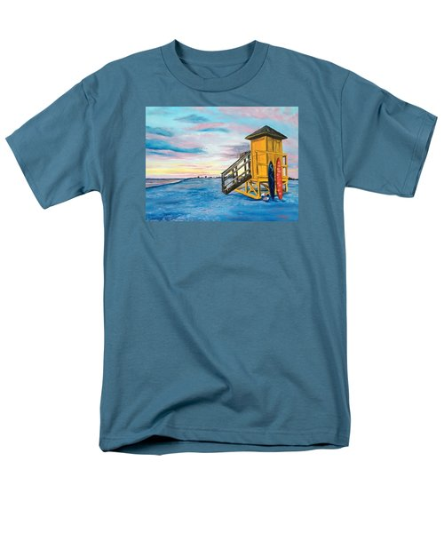 Siesta Key Life Guard Shack At Sunset Men's T-Shirt  (Regular Fit) by Lloyd Dobson