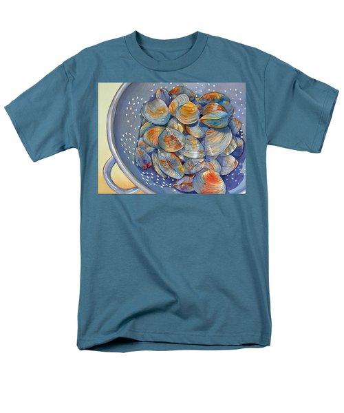 Men's T-Shirt  (Regular Fit) featuring the painting Silence Of The Clams by Judy Mercer
