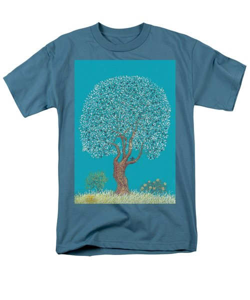 Silver Tree Men's T-Shirt  (Regular Fit) by Charles Cater