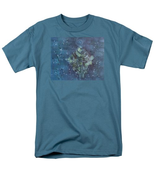 Men's T-Shirt  (Regular Fit) featuring the painting Simpleness Is Happiness by Min Zou