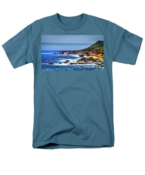 Men's T-Shirt  (Regular Fit) featuring the photograph Sit And Stare Beach by Joseph Hollingsworth