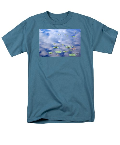 Men's T-Shirt  (Regular Fit) featuring the photograph Sky And The Lily Pads by Lila Fisher-Wenzel