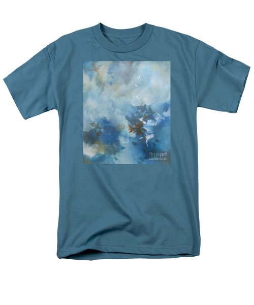 Men's T-Shirt  (Regular Fit) featuring the painting Sky Fall I by Elis Cooke