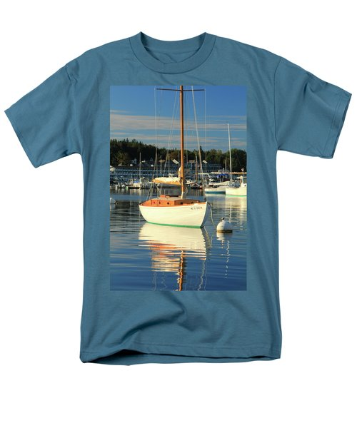 Men's T-Shirt  (Regular Fit) featuring the photograph Sloop Reflections by Roupen  Baker