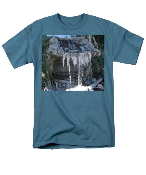 Smokey Stoves Frozen Falls Men's T-Shirt  (Regular Fit) by Marie Neder