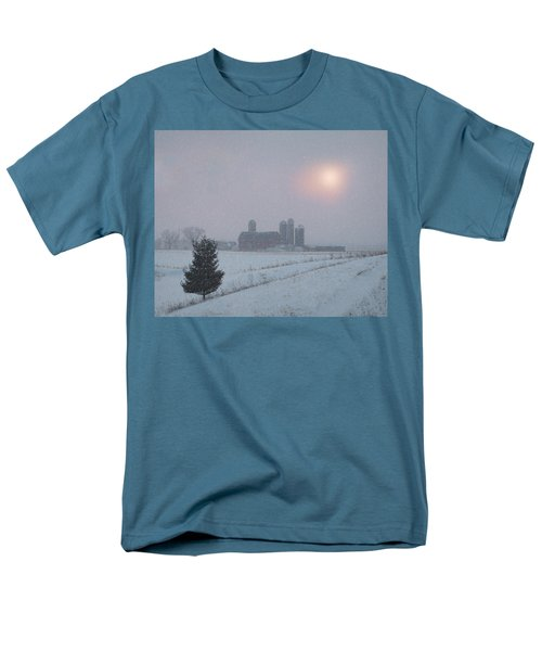 Men's T-Shirt  (Regular Fit) featuring the photograph Snow Muted Sunset by Judy Johnson
