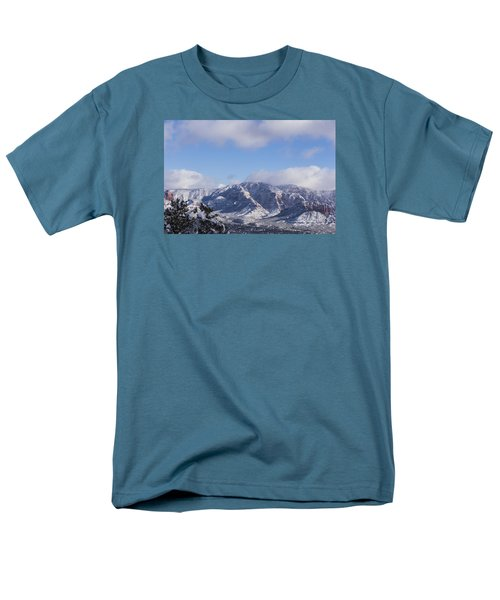 Snow Rim Men's T-Shirt  (Regular Fit) by Laura Pratt