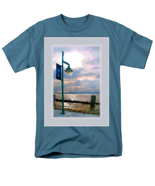 Men's T-Shirt  (Regular Fit) featuring the photograph Snow Waterfront Park Walk by Felipe Adan Lerma
