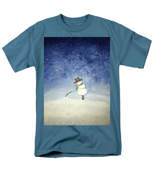 Men's T-Shirt  (Regular Fit) featuring the painting Snowfall by Antonio Romero