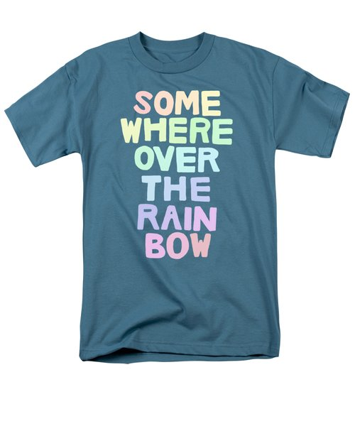 Somewhere Over The Rainbow Men's T-Shirt  (Regular Fit) by Priscilla Wolfe