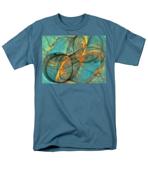 Men's T-Shirt  (Regular Fit) featuring the digital art Soothing Blue by Deborah Benoit