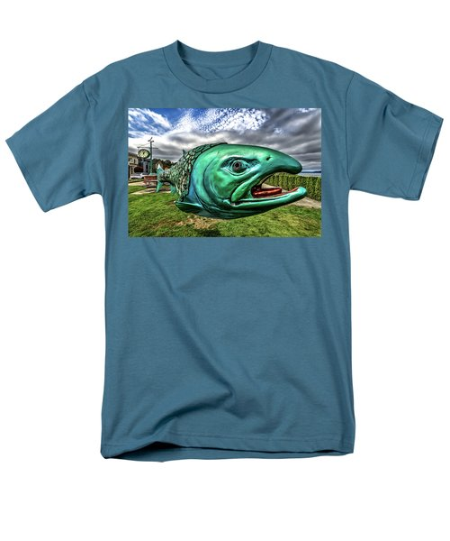 Soul Salmon In Hdr Men's T-Shirt  (Regular Fit) by Rob Green