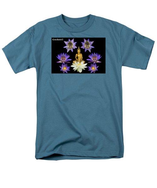 Spiritual Water Lilly Men's T-Shirt  (Regular Fit) by Gary Crockett