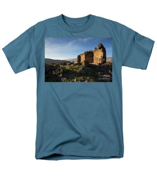 Splendid Ruins Of St. Grigor Church In Karashamb, Armenia Men's T-Shirt  (Regular Fit) by Gurgen Bakhshetsyan