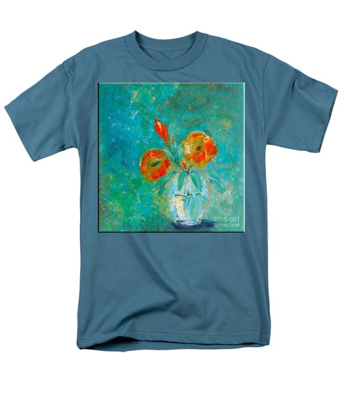 Palette Knife Floral Men's T-Shirt  (Regular Fit) by Lisa Kaiser