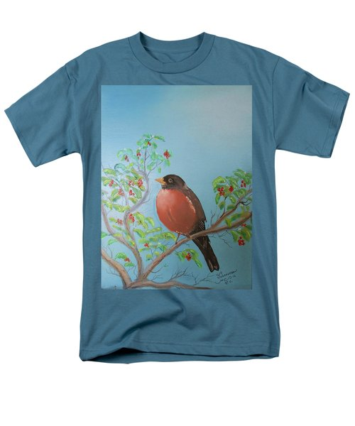 Men's T-Shirt  (Regular Fit) featuring the painting Spring by Al Johannessen