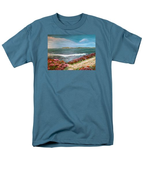 Spring At Half Moon Bay Men's T-Shirt  (Regular Fit) by Dee Davis