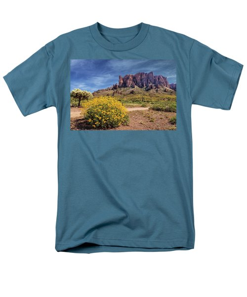 Men's T-Shirt  (Regular Fit) featuring the photograph Springtime In The Superstition Mountains by James Eddy