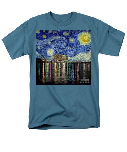 Starry Night In Destin Men's T-Shirt  (Regular Fit) by Walt Foegelle